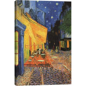 'The Cafe Terrace on the Place du Forum (Café Terrace at Night) 1888' by Vincent Van Gogh Print by East Urban Home