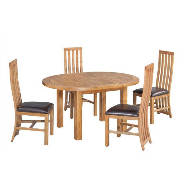 Arreola 5 Piece Extendable Dining Set by Loon Peak