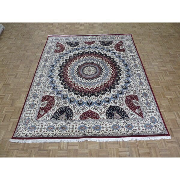 One-of-a-Kind Padro Gombad Hand-Knotted Ivory Area Rug by Bloomsbury Market
