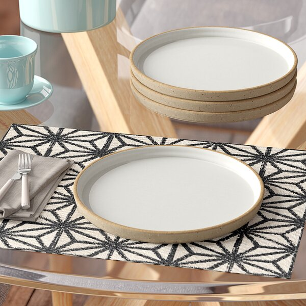 Bevill Round 8 Salad and Dessert Plate (Set of 4) by Langley Street