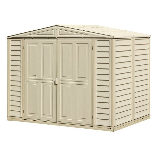 DuraMate 7 ft. 10 in. W x 5 ft. 3 in. D Plastic Storage Shed by Duramax Building Products