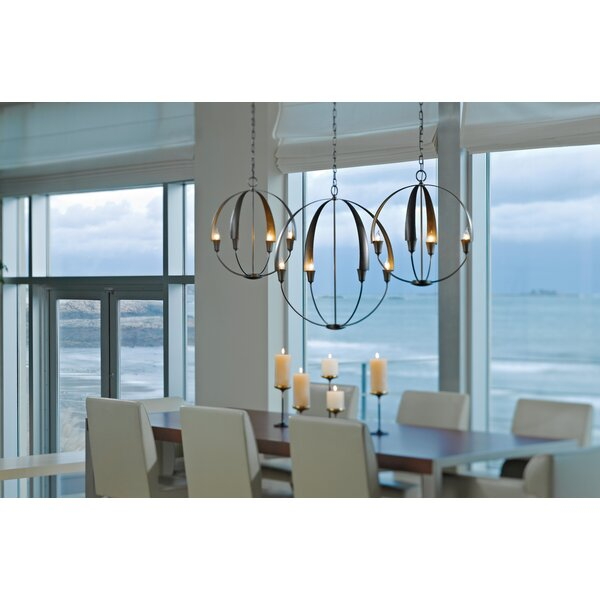 Cirque 4-Light Unique / Statement Globe Chandelier by Hubbardton Forge Hubbardton Forge