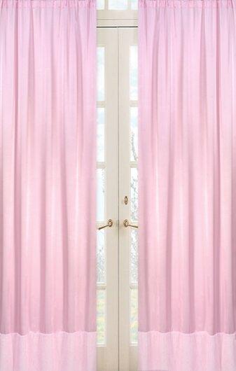 Solid Semi-Sheer Rod pocket Curtain Panels (Set of 2) by Sweet Jojo Designs