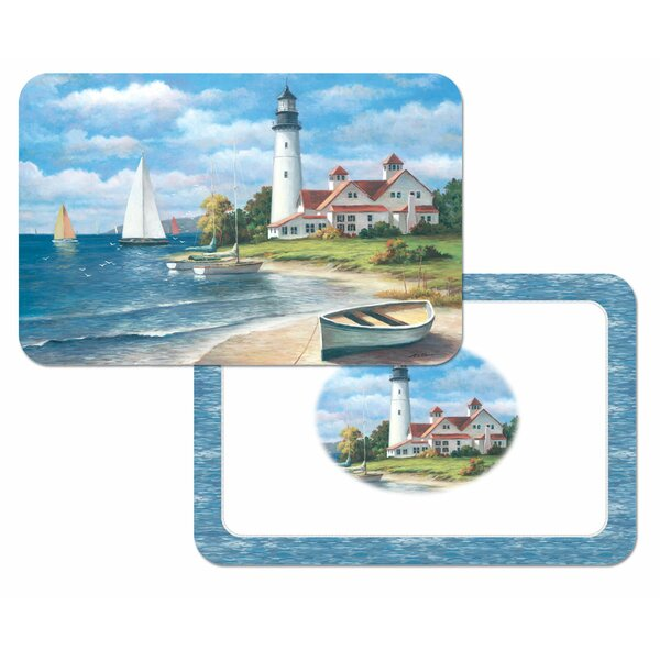 Reversible Wipe Clean Plastic Placemat (Set of 4) by CounterArt
