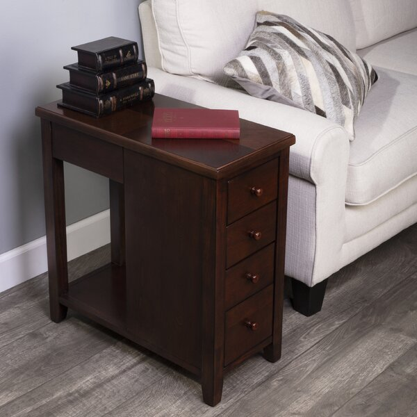 Bradwell Plantation 4-Drawer End Table By Canora Grey