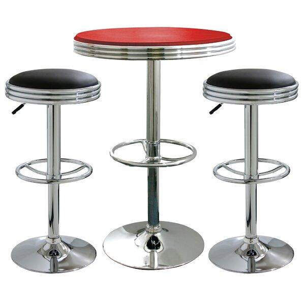 Southampton 3 Piece Adjustable Height Pub Table Set by Latitude Run