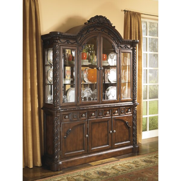 Chapell Lighted China Cabinet by Astoria Grand