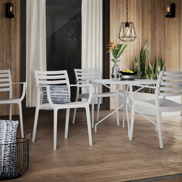 Melissus Stacking Patio Dining Chair (Set of 4) by Mercury Row Mercury Row