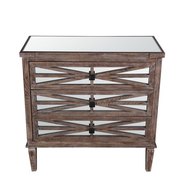Marland 3 Drawer Accent Chest by Bungalow Rose