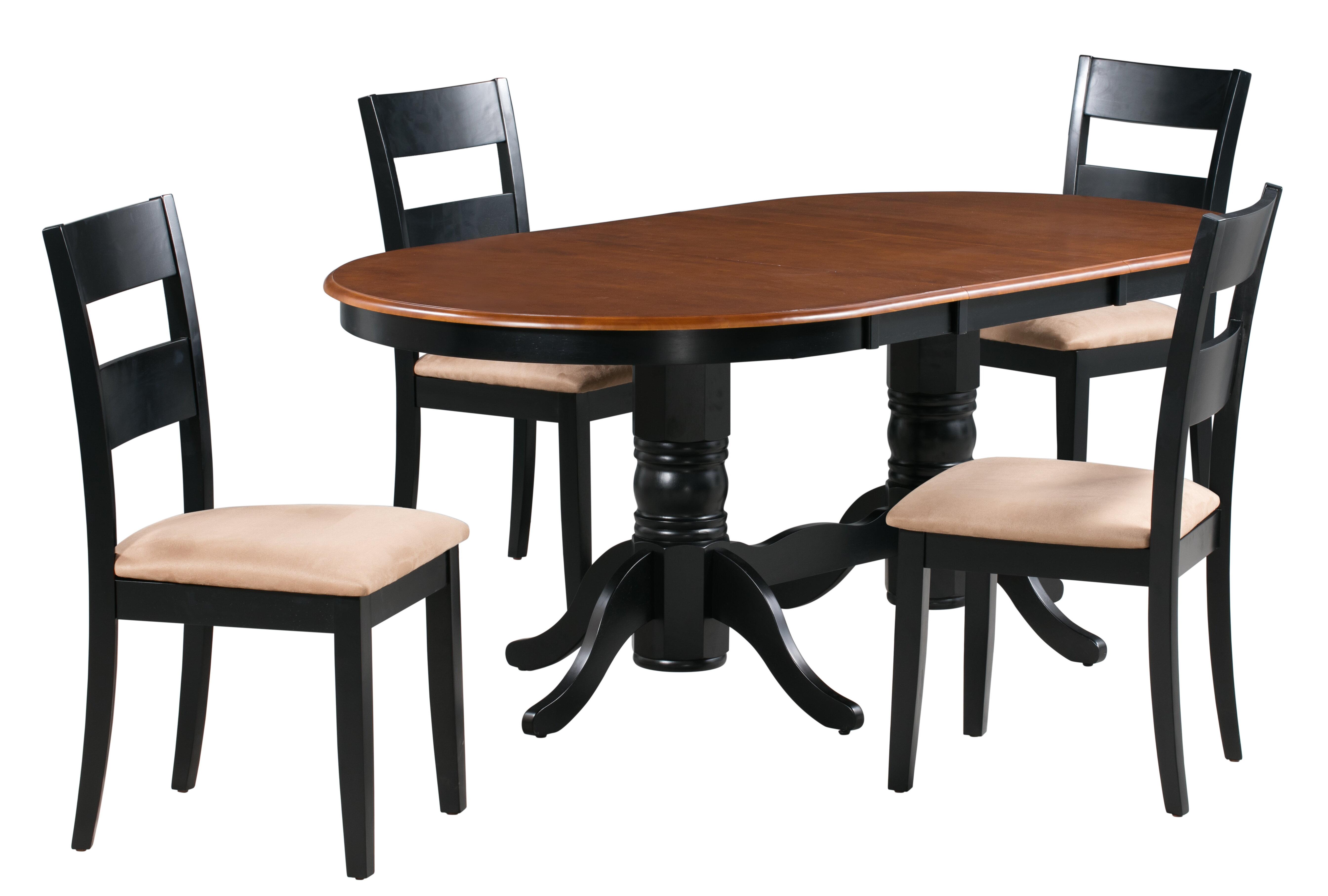 Alcott Hill Jaiden 5 Piece Extendable Solid Wood Dining Set Wayfair