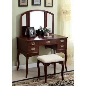 Falconer 3 Piece Vanity and Stool Set by Darby Home Co