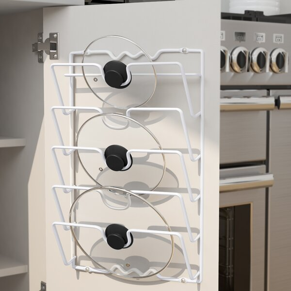 Lid Rack Cabinet Door Organizer by Rebrilliant