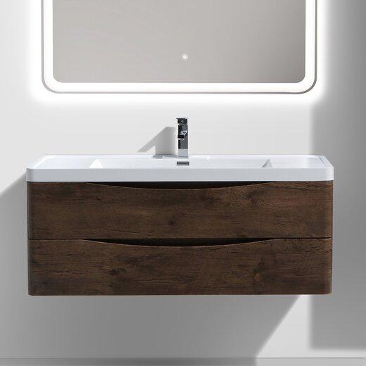 Ruelas 48 Wall-Mounted Single Bathroom Vanity Set by Wrought Studio