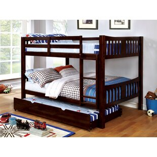 Sandstone Full Over Full Bunk Bed with Drawers By Harriet Bee