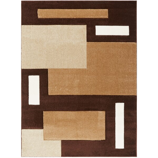 Sumatra Brown Cubes Area Rug by Home Dynamix