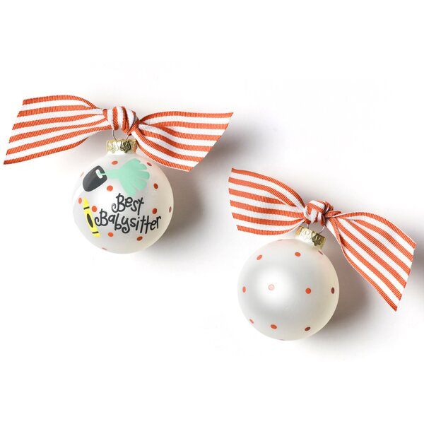 Babysitter Glass Ball Ornament by Coton Colors