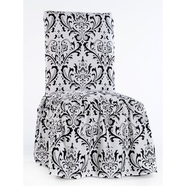 Damask Box Cushion Dining Chair Slipcover (Set of 2) by House of Hampton