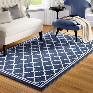 Stodola Navy Beige Indoor Outdoor Area Rug