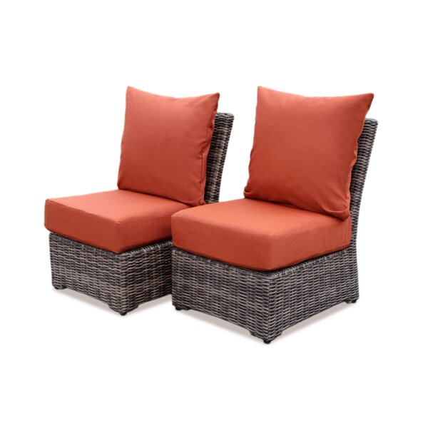 Valentin Patio Chair with Sunbrella Cushions (Set of 2) by Laurel Foundry Modern Farmhouse