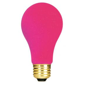 Pink 120-Volt Incandescent Light Bulb (Set of 19) by Bulbrite Industries