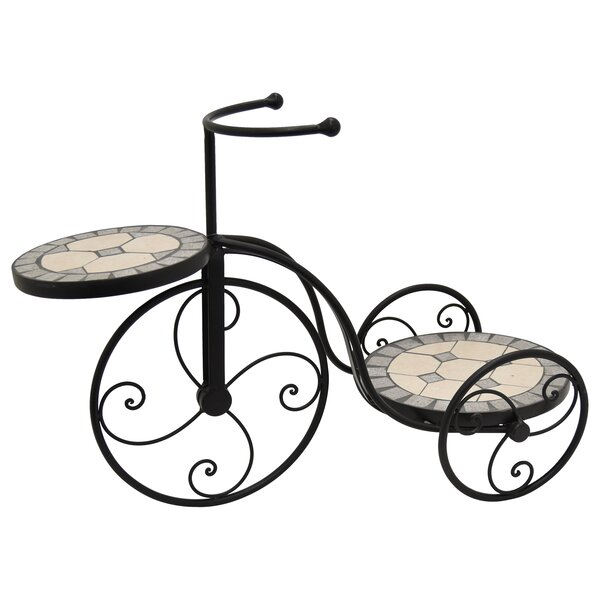 Bicycle Plant Stand with Mosaic by Three Hands Co.