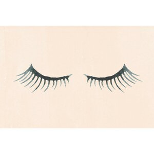 'Closed Eyelashes' by Shayna Pitch Painting Print on Wrapped Canvas by Marmont Hill