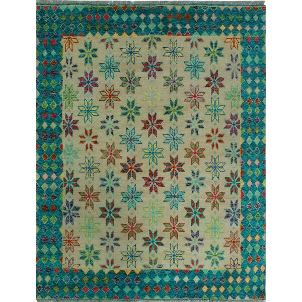 One-of-a-Kind Millender Trenton Hand-Knotted Wool Blue/Beige Are Rug by Bloomsbury Market