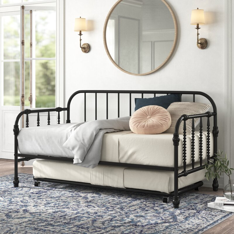 Charlotte Twin Metal Daybed with Trundle