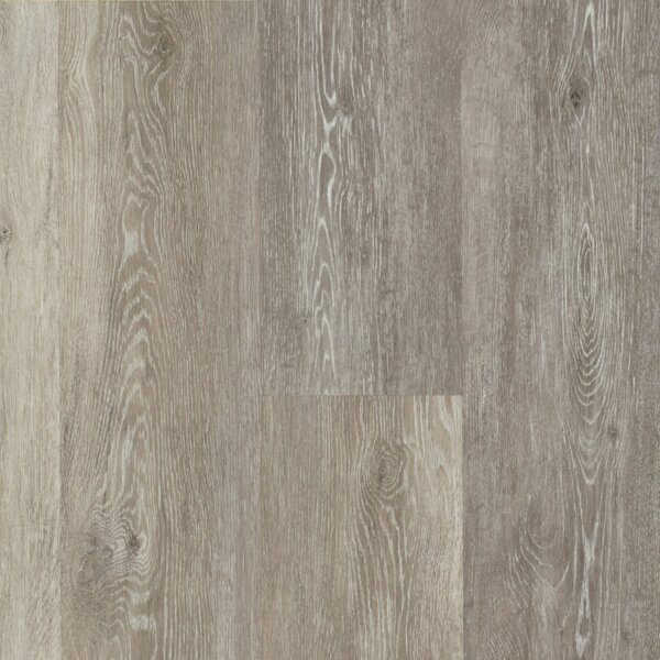 Luxe Rigid Core Limed 7 x 48 x 7.88mm Oak WPC Luxury Vinyl Plank in Chateau Gray by Armstrong Flooring