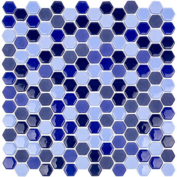 Recoup 11.5 x 12 Glass Mosaic Tile in Royale by Splashback Tile