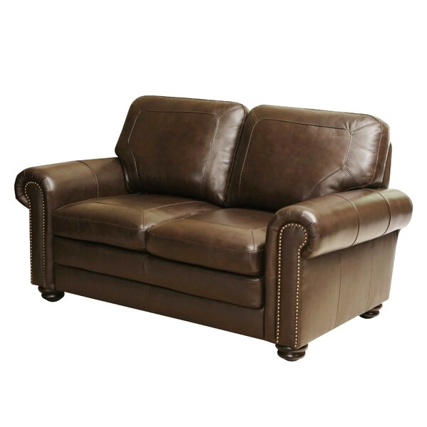 Bolling Leather Loveseat by Darby Home Co