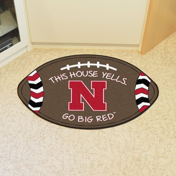 NCAA Nebraska Southern Football 35 in. x 22 in. Non-Slip Indoor Only Door Mat