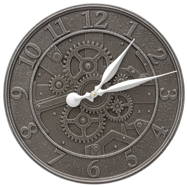 Gear 16 Indoor/Outdoor Wall Clock by Whitehall Products