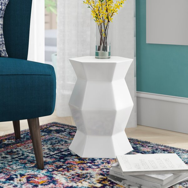 Cyra Hexagon Ceramic Garden Stool By Mercury Row