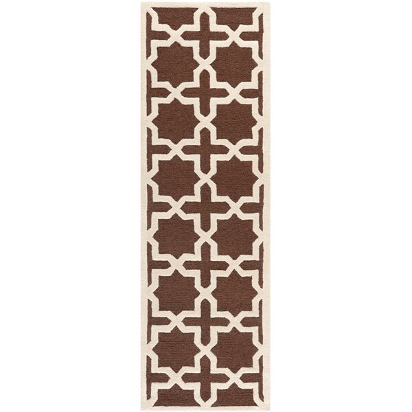 Brunswick Wool Brown/Ivory Area Rug by Charlton Home