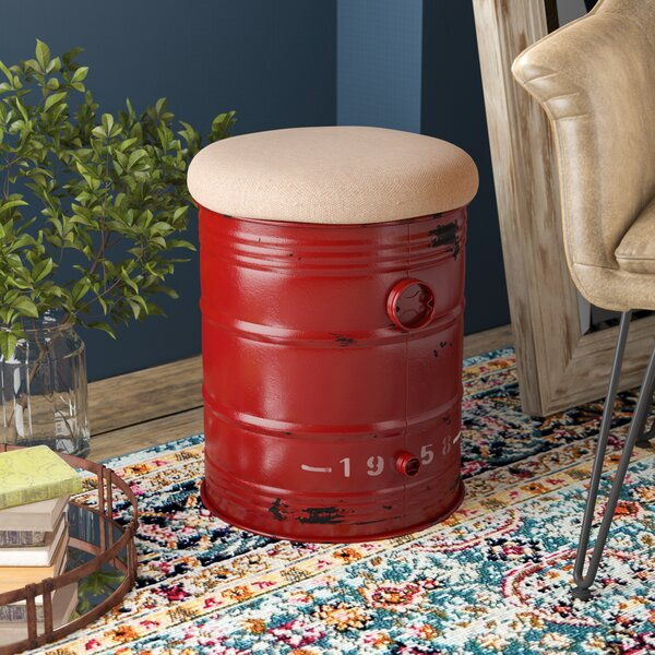 Toya Drum Accent Stool by Williston Forge