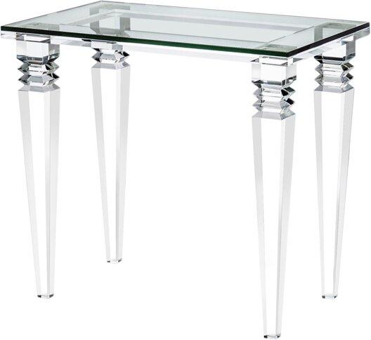 Savannah Glass Top End Table