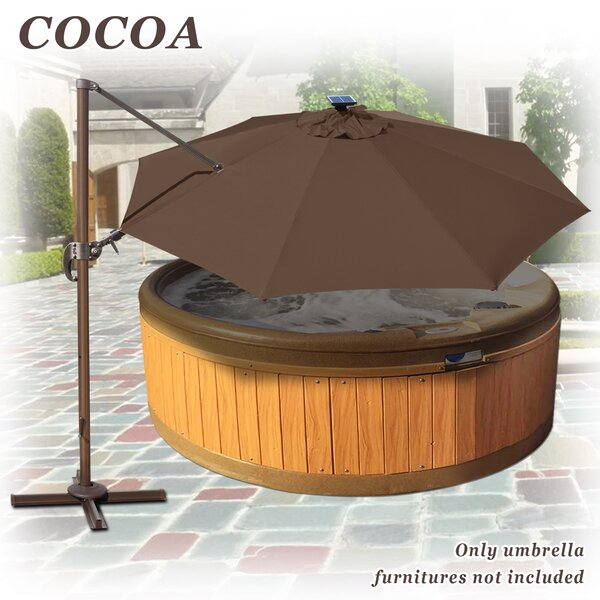 Eva Outdoor Patio Rotation 11.5 Cantilever Umbrella by Freeport Park