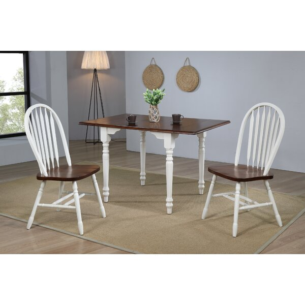 Irie 3 Piece Drop Leaf Solid Wood Dining Set by Loon Peak