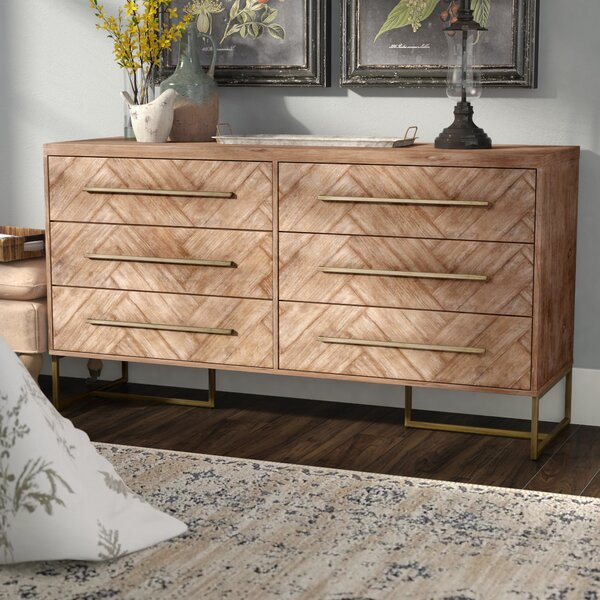 Derwent 6 Drawer Double Dresser by Three Posts