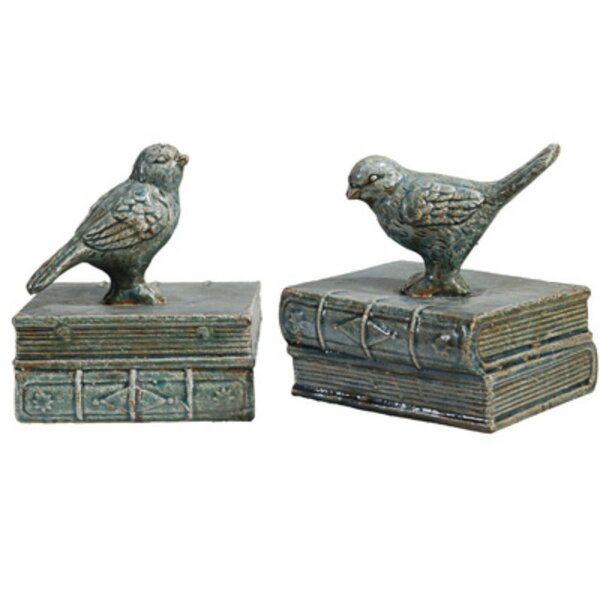Ceramic Bird Bookends (Set of 2) by Ophelia & Co.