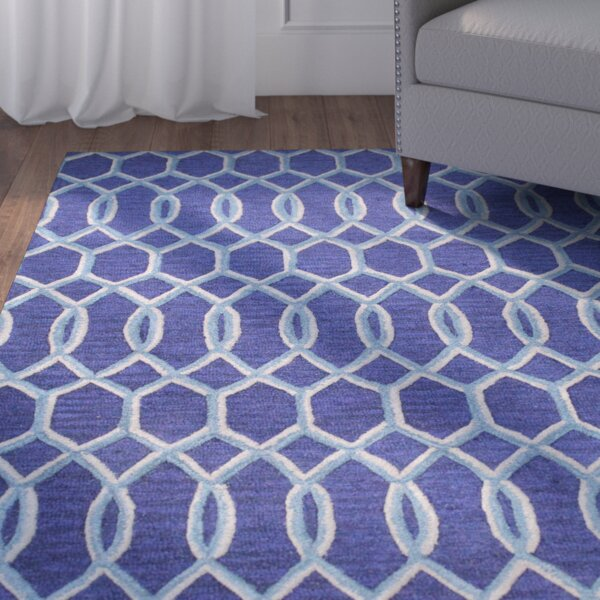 Boomer Hand-Tufted Navy Area Rug by Alcott Hill