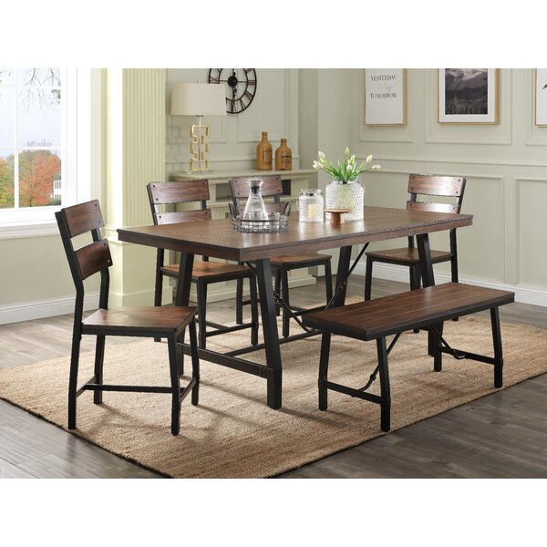 Laramie 6 Piece Dining Set by Millwood Pines Millwood Pines