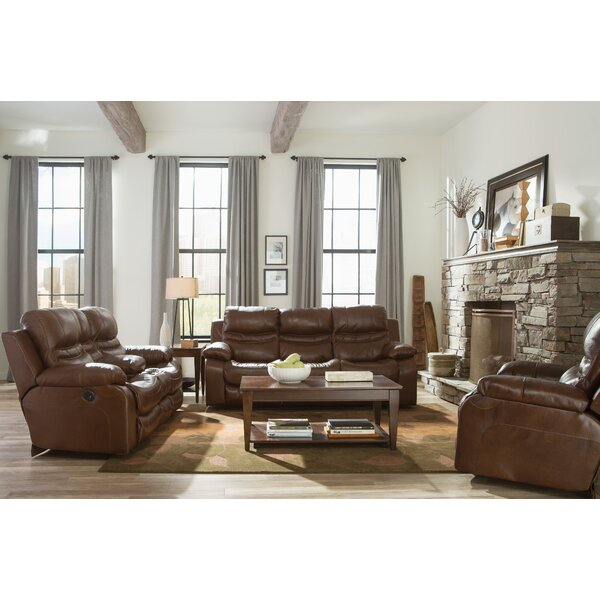 Patton Leather Reclining Loveseat By Catnapper Catnapper