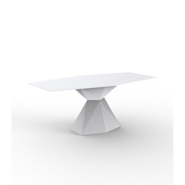 Vertex Plastic/Resin Dining Table by Vondom