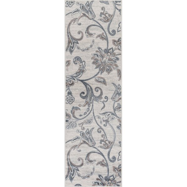 Majoros Floral Cream Area Rug by Red Barrel Studio