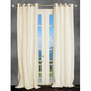 Solid Semi-Sheer Thermal Grommet Single Curtain Panel