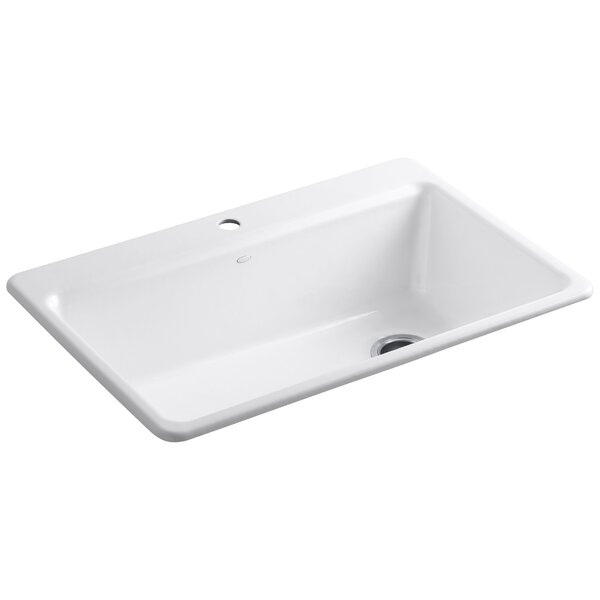 Riverby 33 L x 22 W x 9-5/8 Top-Mount Single-Bowl Kitchen Sink with Accessories by Kohler