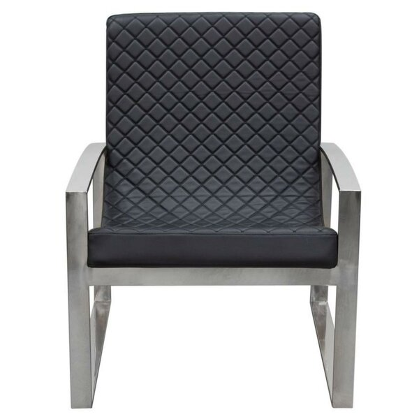Justa Leatherette Armchair by Orren Ellis