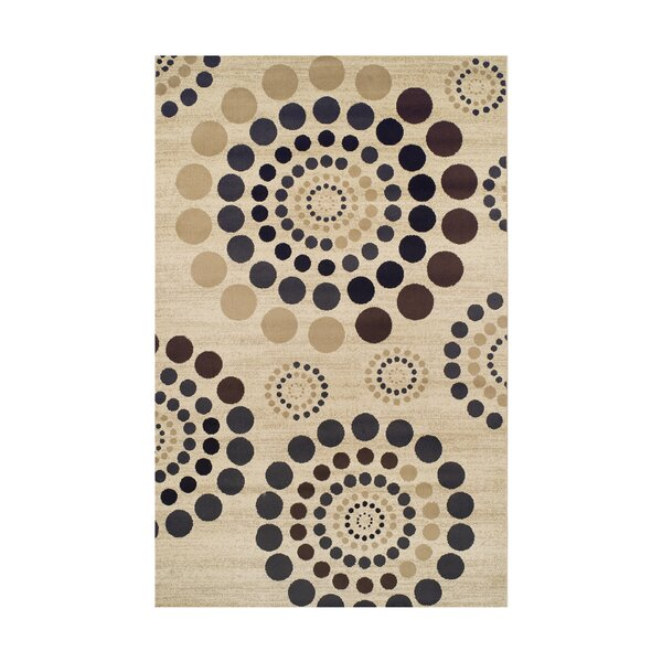 City Circle Cream Area Rug by Simple Luxury